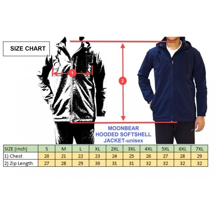 Moonbear Hooded Softshell Jacket - Black